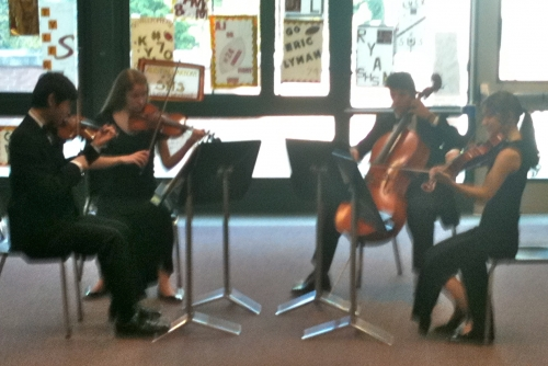 SHS String Quartet Performs for Alums